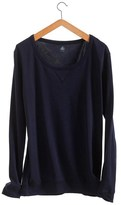 Petit Bateau Womens loose cotton sweatshirt