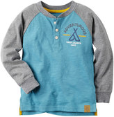 Carter's Baby Boy Embroidered Camping-Themed Henley Tee