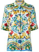 Dolce & Gabbana Majolica print pyjama shirt