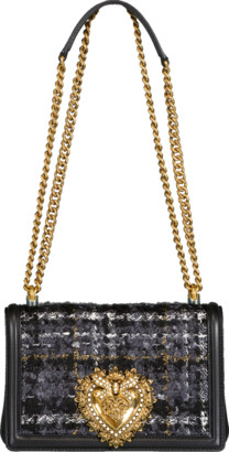 Dolce & Gabbana Devotion Crossbody Tweed Bag