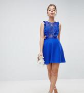 Asos DESIGN Petite Lace Pinafore Mini Dress