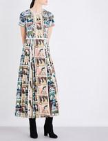 Burberry Framed Heads silk dress