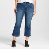 Dollhouse Women's Plus Size Cropped Flare Jean Juniors')