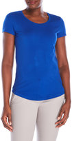 Cable & Gauge Rounded Hem Scoop Neck Tee