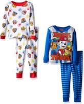 Nickelodeon Little Boys' Toddler Paw Patrol Toddler 4-Piece Pajama Set