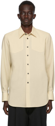 Jil Sander Beige Wool Canvas Shirt