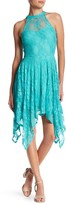 Just For Wraps Hanky Lace Halter Dress