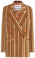 Acne Studios Striped wool-blend jacket