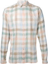 Oliver Spencer checked shirt - men - Cotton/Linen/Flax - 15