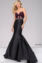 Jovani Two-Tone Strapless Mermaid Prom Dress 50922