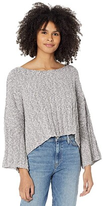 Free People Good Day Pullover (Charcoal) Women's Clothing