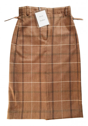 Acne Studios Brown Wool Skirts
