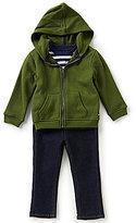 Nautica Baby Boys 12-24 Months Solid Fleece Jacket, Striped Jersey Tee & Denim Jeans Set