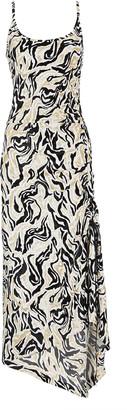 Paco Rabanne Abstract Lurex Knit Midi Dress