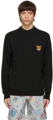 Moschino Black Knit Teddy Sweater