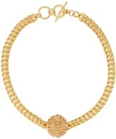 Kenneth Jay Lane Golden Disco Ball Necklace