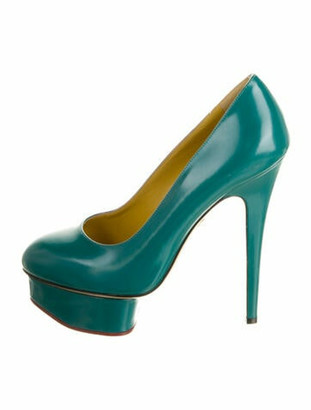 Charlotte Olympia Leather Pumps Blue