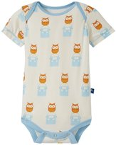 Kickee Pants Print One Piece (Baby) - Natural Radio Owl-Preemie