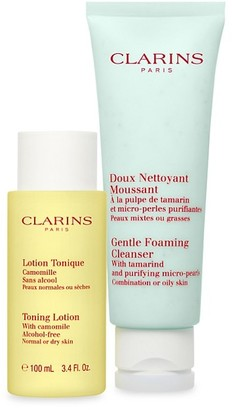 Clarins Limited Edition Cleansing Sensations 2-Piece Combination Or Oily Skin Set