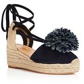Kate Spade Lafayette Pom-Pom Lace Up Platform Wedge Sandals