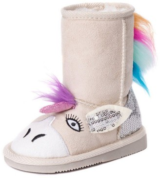 Muk Luks Girl's Luna Unicorn Boots Fashion