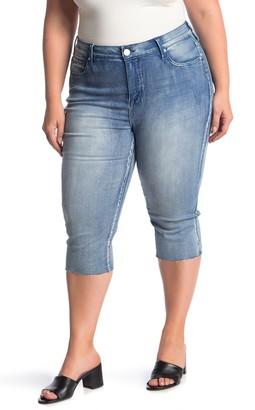 Seven7 High Rise Breezy Crop Jeans (Plus Size)