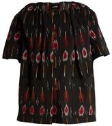 Rachel Comey Salon flame-ikat button-down cotton top