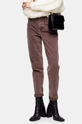 Topshop Womens Purple Antique Mom Tapered Jeans - Light Purple
