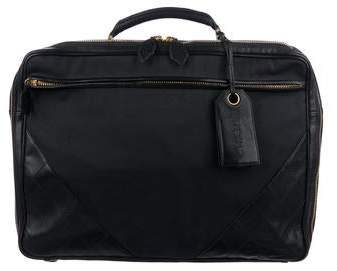 Chanel Quilted Canvas Lambskin Briefcase