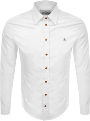 Vivienne Westwood Long Sleeved Poplin Shirt White