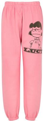 Marc Jacobs X Peanuts Lucy Cotton-jersey Sweatpants