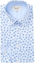Ted Baker Farnley Floral Trim Fit Dress Shirt