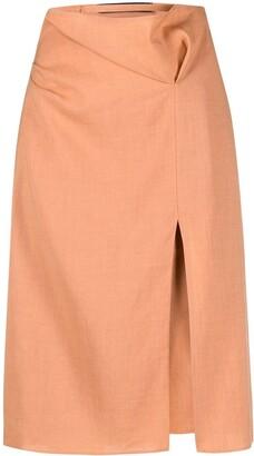 Jacquemus High-Waisted Slit-Detail Skirt