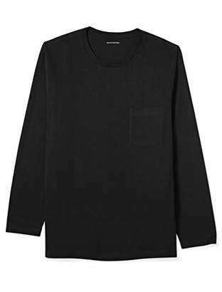 Amazon Essentials Men's Big & Tall Long-Sleeve Pocket T-Shirt