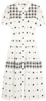 Temperley London Etta Mesh-paneled Embroidered Cotton-blend Maxi Dress - Off-white