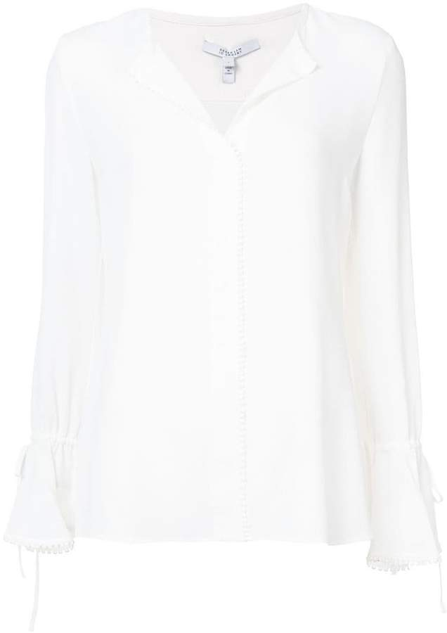Derek Lam 10 Crosby bell-sleeved button blouse