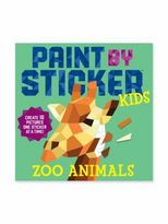 Workman Publishing Paint By Sticker Kids- Zoo Animals