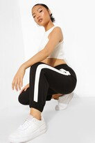 Thumbnail for your product : boohoo Petite Side Stripe Woven Joggers