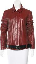 Ann Demeulemeester Textured Leather Jacket