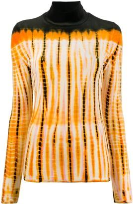 Proenza Schouler Tie-Dye Velvet Rollneck Jumper
