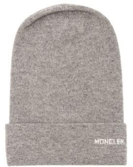 61c4e2e62e6 Moncler Logo Cashmere Beanie Hat - Womens - Grey