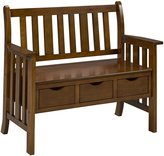 Brassex 3044 Oak Solid Birch Bench in Oak
