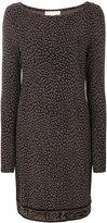 MICHAEL Michael Kors leopard-print shift dress