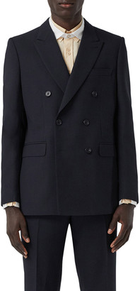Burberry Men's Double-Breasted Suit Jacket