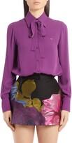 Valentino Silk Tie Neck Shirt