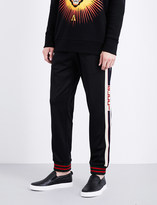 Gucci Logo-tape stretch-jersey jogging bottoms