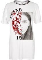 River Island Womens White tiger print boyfriend T-shirt