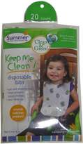 Summer Infant Bornfree Summer Infant, Clean & Green, Disposable Bibs, 20 Count - 20 Pack