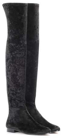 Jimmy Choo Myren Flat velvet over-the-knee boots