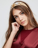 Asos Statement Metallic Flower & Jewel Headband
